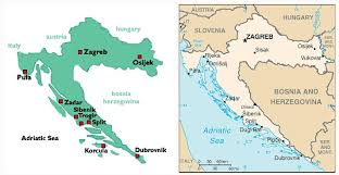 Simple Map Of Croatia With Indication Main Places And Neighbouring Coutries