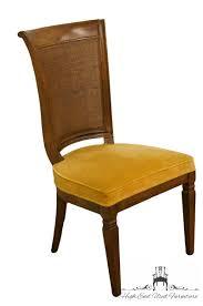 JOHN WIDDICOMB Co Grand Rapids Jacobean Style Cane Back Dining Side Chair