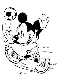 Mickey Mouse Soccer Coloring Pages