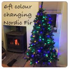 Nordic Fir Artificial Christmas Tree 6ft by Argos Rrp 149 99 Pre Lit Colour Switch Nordic Fir Christmas Tree