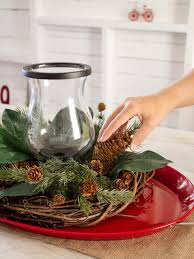 Pine Cone Christmas Tree Centerpiece by How To Make A Layered Holiday Centerpiece Hgtv