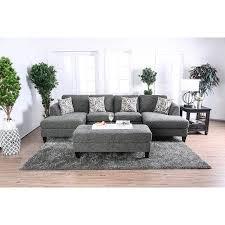 furniture of america contemporary faux linen daniel