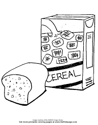 Bread And Cereal Free Coloring Pages For Kids
