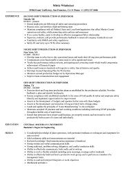 Download Shift Production Supervisor Resume Sample As Image File