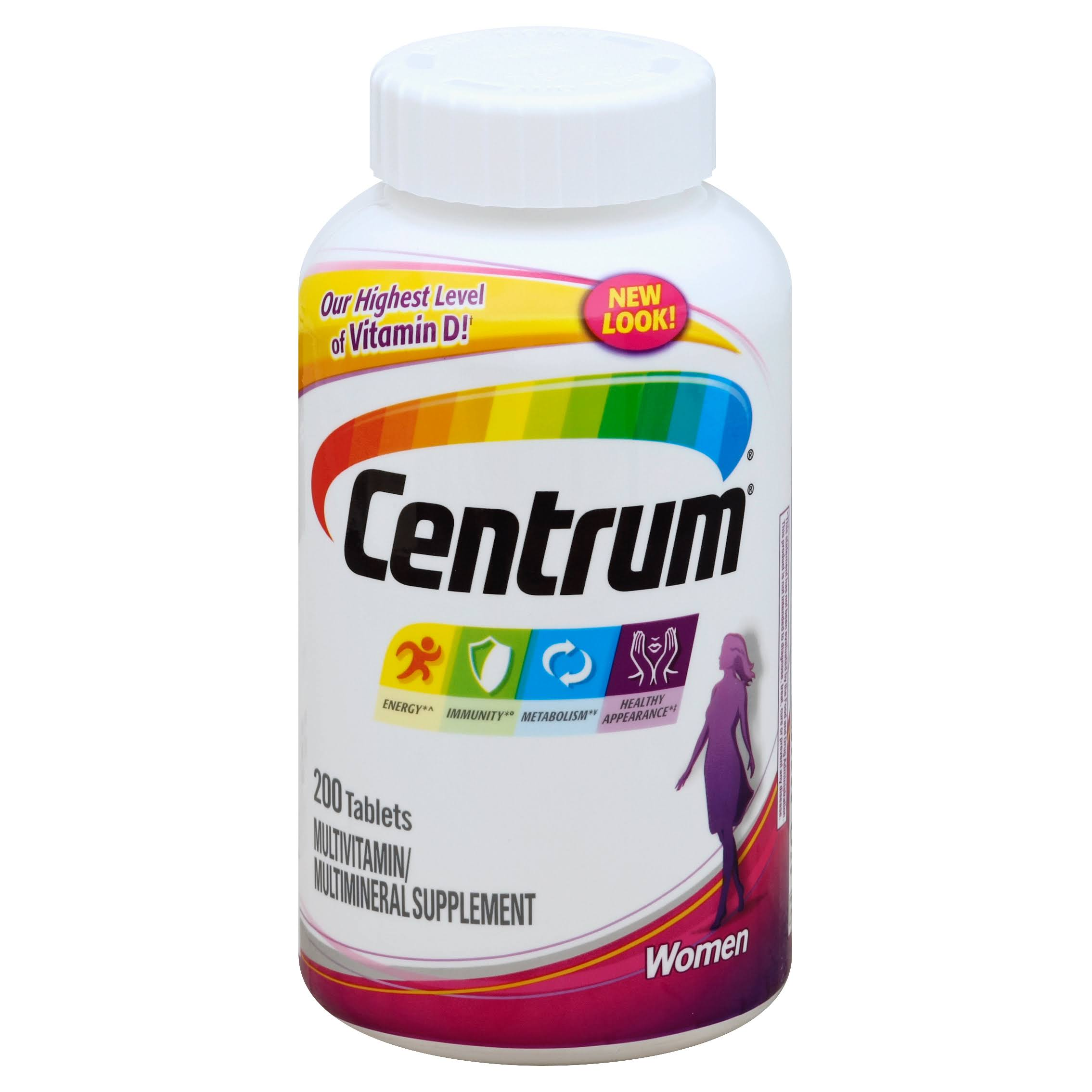 Centrum Women's Multivitamin Supplement - 200 Tablets