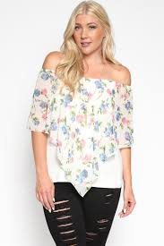 themogan women u0026 039 s off shoulder floral cape overlay top plus
