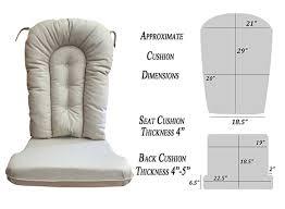 Replacement Cushion Set Glider Rocker, Natural Fabric