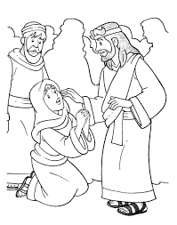 Jesus Heals Jairus Coloring Page Free Christian Pages For Children And Adults