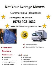 Not Your Average Movers - CLOSED - Movers - 41 Queen Ave, Methuen ... Moving Truck Rental Discount Car Rentals Canada Enterprise Discounts Best Resource Affordable Movers In Lubbock Despite High Demand Cv Makers Shower Discounts Penske Reviews Two Men And A Deal With Logistics Of Political Movements Hire To Load Or Disassemble Fniture Amazon Home Services Ryder Moving Truck Coupons Memory Lanes Gs Express Watno Paar Punjabi Self Storage Orlando Myneighbhoodstoragecenter When It Comes Renting Trucks Doesnt Clown