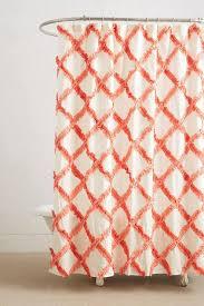 Trellis Orange Shower Curtain