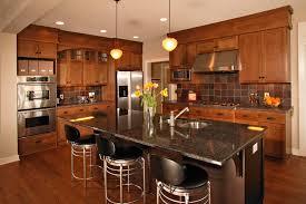 Kitchen Backsplash Designs With Oak Cabinets by Oak Cabinets With Granite Countertops Kitchen Eclectic With