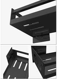 zhuhaixmy gewürzregal ohne bohren 1 etage schwarz