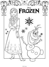 Click To See Printable Version Of Anna And Olaf Coloring Page