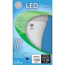 ge led 14w daylight value a19 75w light bulb walmart