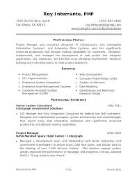 Sample Pmp Resume Government Project Manager Plus For Frame Astounding