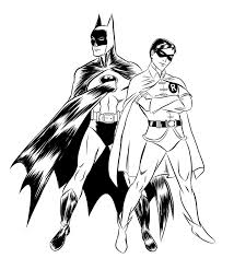 Robin Coloring Page Free Printable Batman Pages For Kids Drawing