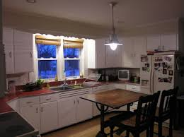 Existing Kitchen Lighting Well I Dont Have A Real Before Photo But The New Can Lights Are Off So This Is What It Was Like