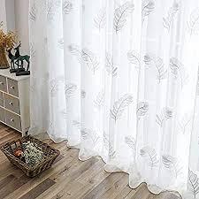 yahlsen gestickte gardinen for wohnzimmer elegantes