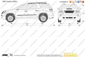 the blueprints vector drawing gmc acadia