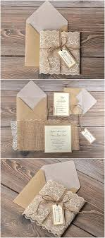 Rustic Lace Wedding Invitations Packed With Country Burlap Australia
