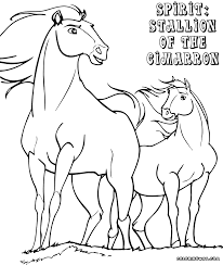 Spirit Cimarron Coloring Pages