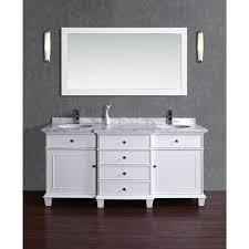 72 Inch Double Sink Bathroom Vanity by Stufurhome Cadence White 72 Inch Double Sink Bathroom Vanity With