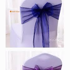 chiffon organza chair sashes 100 pcs purple blue ivory yellow