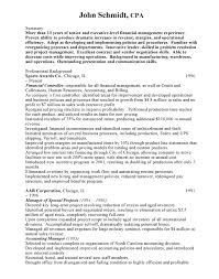 Controller Sample Resume Free Resumes For Examples