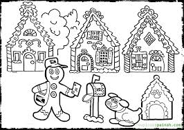 Gingerbread House Coloring Pages 17 Strikingly Idea Sheet To Download And Print For Free