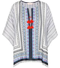 tory burch blaire cotton poncho mytheresa com