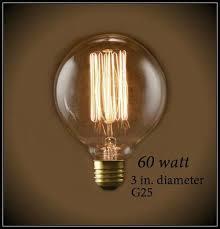 vintage squirrel cage filament g25 globe light bulb 60 watts