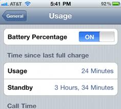 iPhone How to display battery percentage remaining