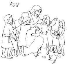 Jesus Loves Me Children And Love Coloring Page
