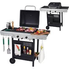 cuisine barbecue gaz barbecue gaz 2 feux plancha grill achat vente barbecue