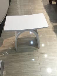 großhandel neue matte moderne gebogene design badezimmer sitzdusche gehäuse hocker matt white acryl solide oberfläche saunahühle 0102 hansen peng