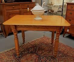 Antique Solid Oak Kitchen Table • Kitchen Tables Design