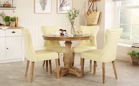 Round Oak Kitchen Table And Chairs Alluring Furniture Solid ...