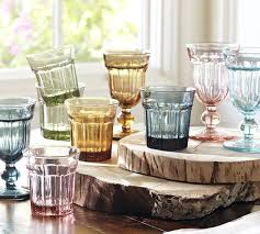 Colorful Cafe Glassware by Pottery Barn retro style goblets and
