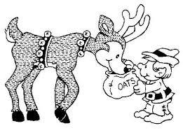 Food Reindeer Christmas Elf Print Coloring Pages