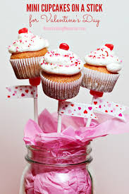 Mini Cupcakes On A Stick For Valentines Day