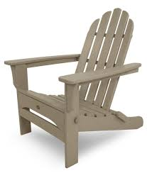 Cape Cod Classic White Folding Patio Adirondack Chair