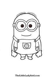 Dave The Minion Coloring Page