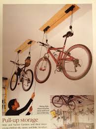 Ceiling Bike Rack For Garage by Can We Have Some Of These For Bikes Lift Them Up To The Ceiling