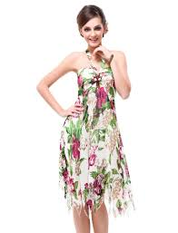 beautiful halter top summer dresses combined with colorful floral