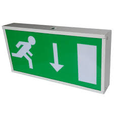 t5 8w fluorescent battery powered led emergency exit signs