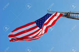 100 Truck Flag Large American Hanging From Roseburg Fire 1353 At Stock