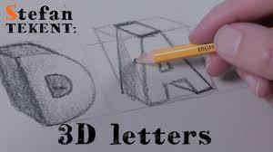 3d Letters Tekenen Alfabet