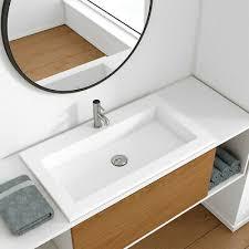 aquabad purista acryl design waschtisch einbau waschbecken weiß eckig badezimmer