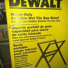 Dewalt Tile Cutter D24000 by Dewalt Portable Wet Tile Saw Stand New In Box For Sale In Upland
