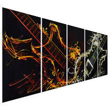 Amazon Pure Art Abstract Guitar Heat